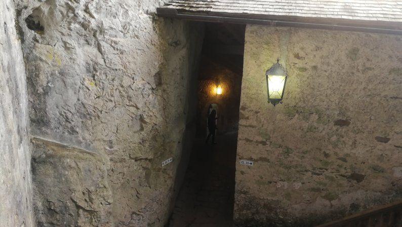 interior del castillo de predjama