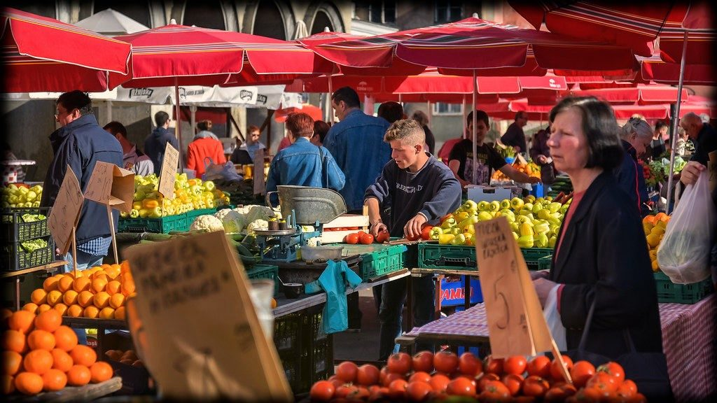 mercado dolac en zagreb croacia