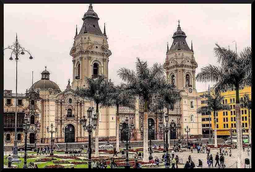 basilica catedral de lima en peru
