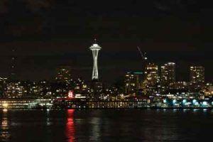 que ver en seattle panoramica de noche