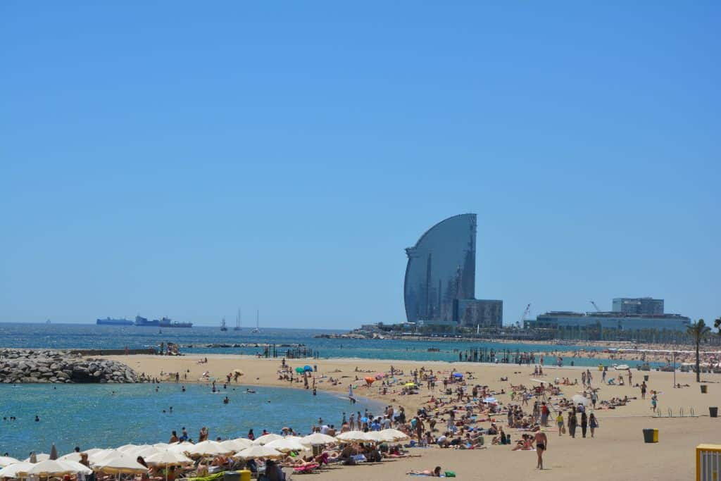 Playa de la ciudad de Barcelona