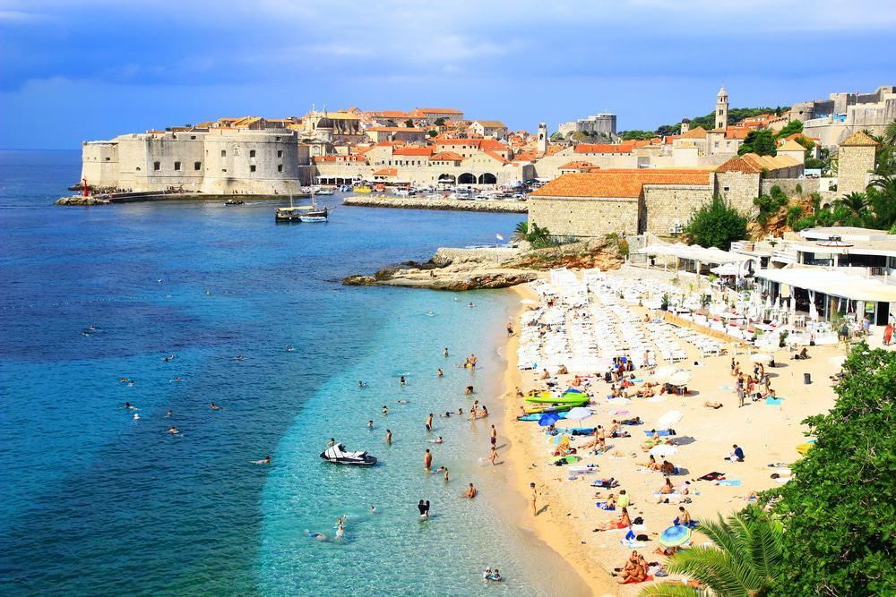 Playa de Banje, Dubrovnik